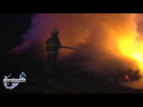 Firefighters Extinguish Brush Fire, Riddells Bay Bermuda, March 8th 2011