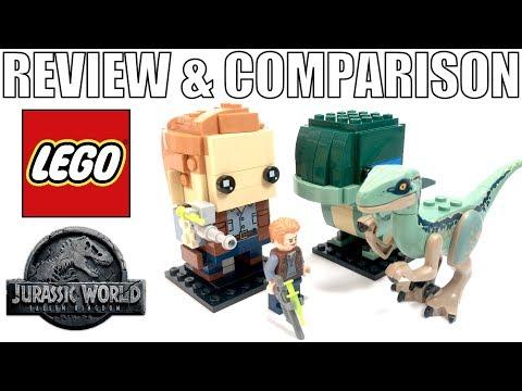 LEGO Jurassic World BRICKHEADZ VS. MINIFIGURES! | Owen & Blue