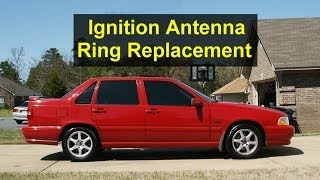 ignition immobilizer antenna ring replacement on a volvo s70 v70 xc70 etc error code p1057 votd