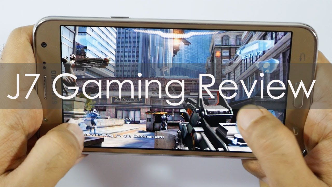 Samsung Galaxy J7 Gaming Review with Heavy Games - YouTube