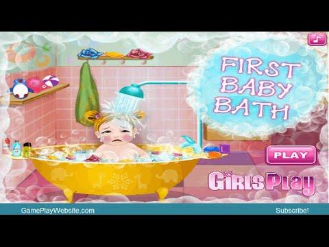 baby first bath online game girl games youtube. Black Bedroom Furniture Sets. Home Design Ideas