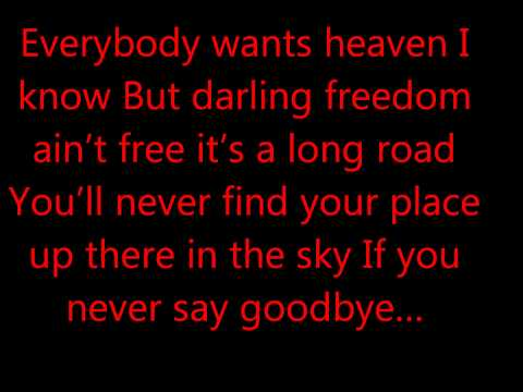 hardwell ft. dyro - never say good bye LYRICS