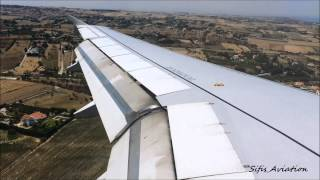 Aegean Airlines Landing With Full Reverse Thrust at Thessaloniki Airport(Flight from Munich to Thessaloniki with Aegean Airlines A320 at 10:20 in the morning! Recorded with iPhone 5s Date: 21/07/2014 Seat: 17A ..., 2014-08-01T14:42:46.000Z)
