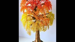 HandMade -Деревья из бисера ( идеи )