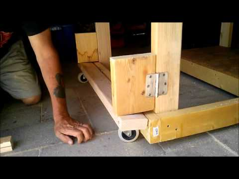 Folding Bench Wheels Youtube