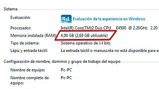 Usar toda la RAM en Windows   Windows no usa toda la RAM