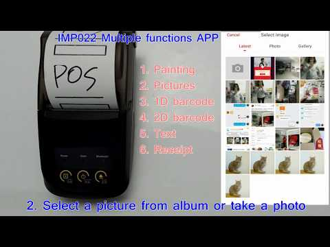 IMP022 New 58mm Android Bluetooth Desktop mini printer