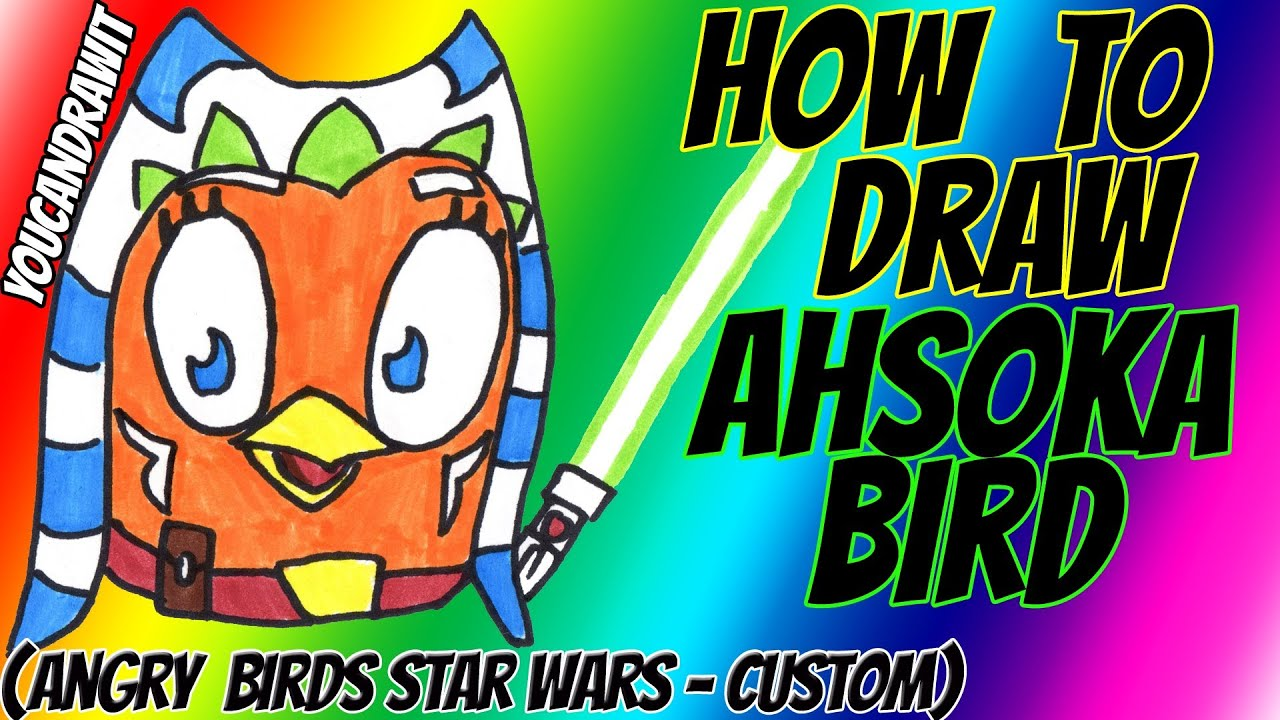 How To Draw Ahsoka Tano Bird Angry Birds Star Wars Custom