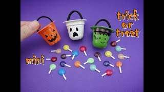 DIY Miniature Doll Accessories Mini Halloween Trick or Treat Bag with Candy - Easy