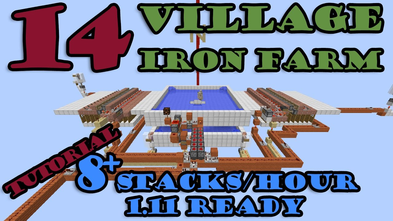 how to make an iron farm in minecraft 1.12