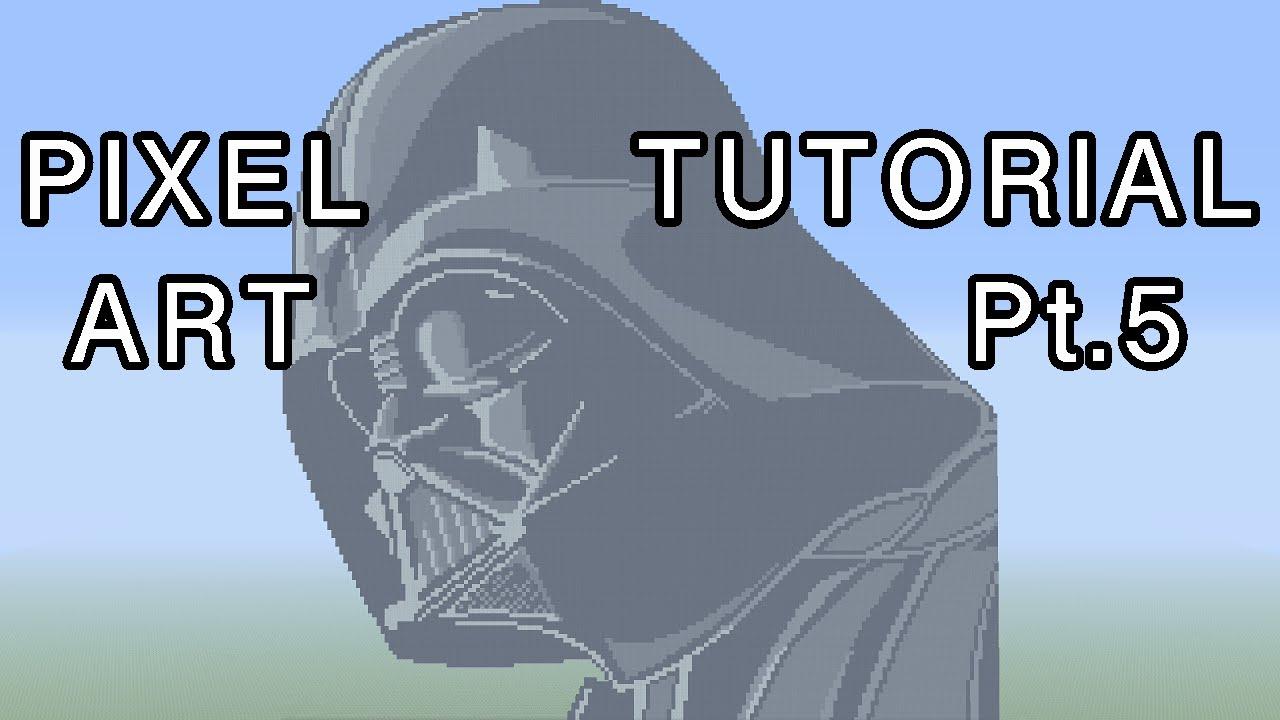 Minecraft Pixel Art Tutorial Darth Vader Star Wars Part 5