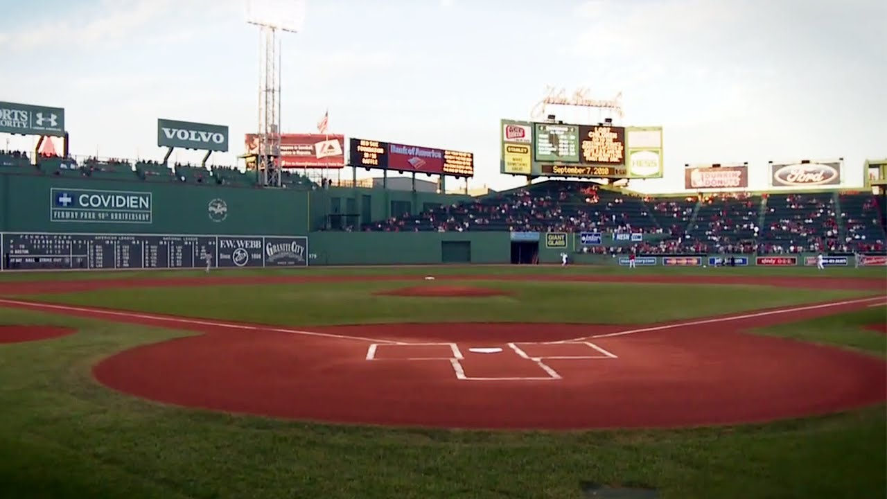 View From Home Plate Of Fenway Park