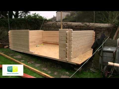 Montage chalet de jardin en bois madriers