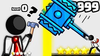 IS THIS THE STRONGEST HAMMER STICKMAN EVOLUTION? (9999+ COMBO LEVEL) l Epic Combo Redux