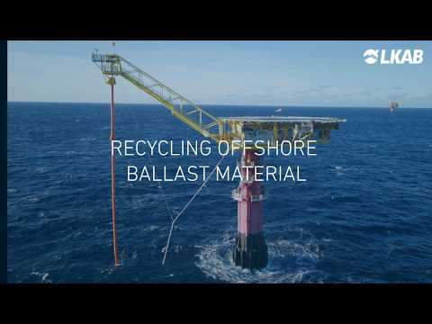 Recycling offshore ballast material