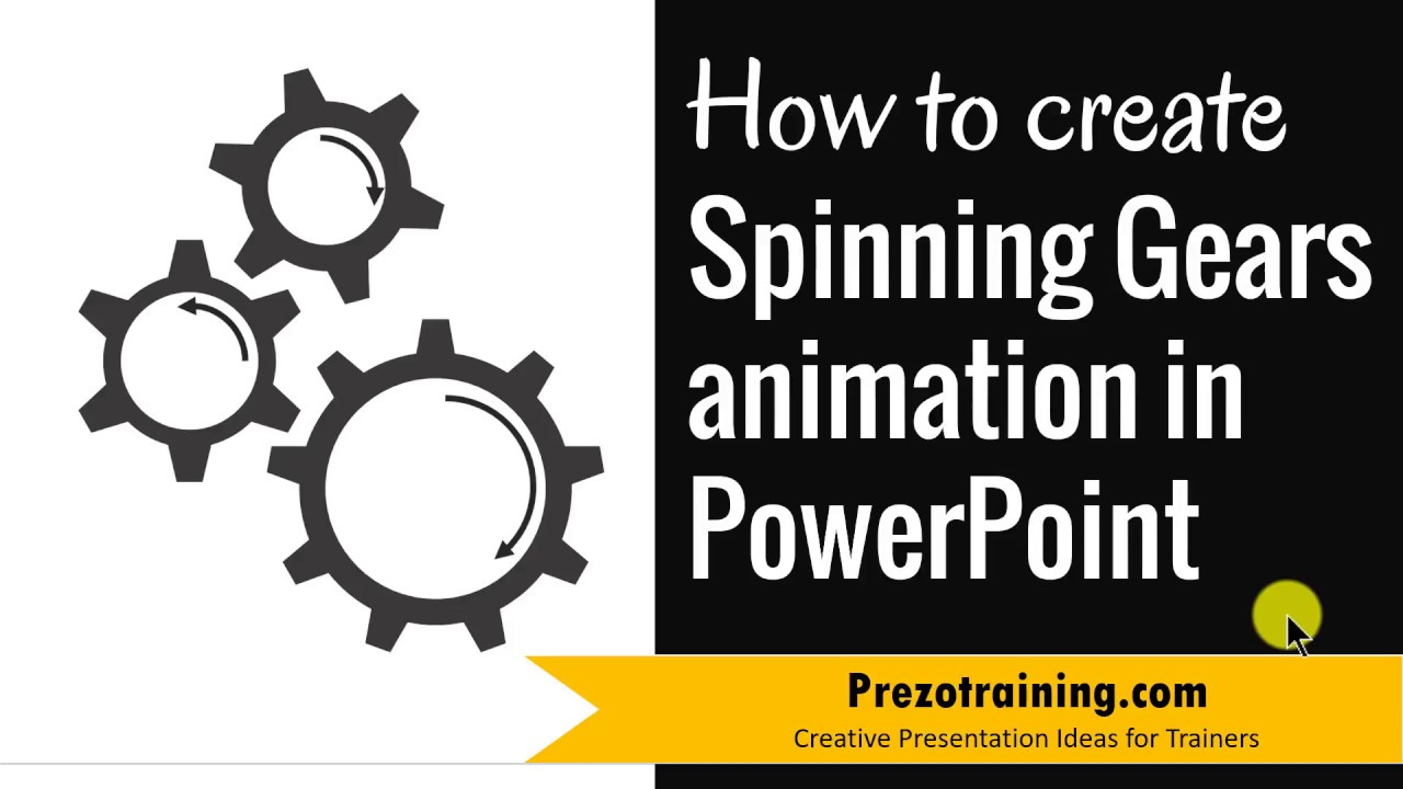 Create Spinning SmartArt Gears Animations In PowerPoint ( WITH SUBTITLES)