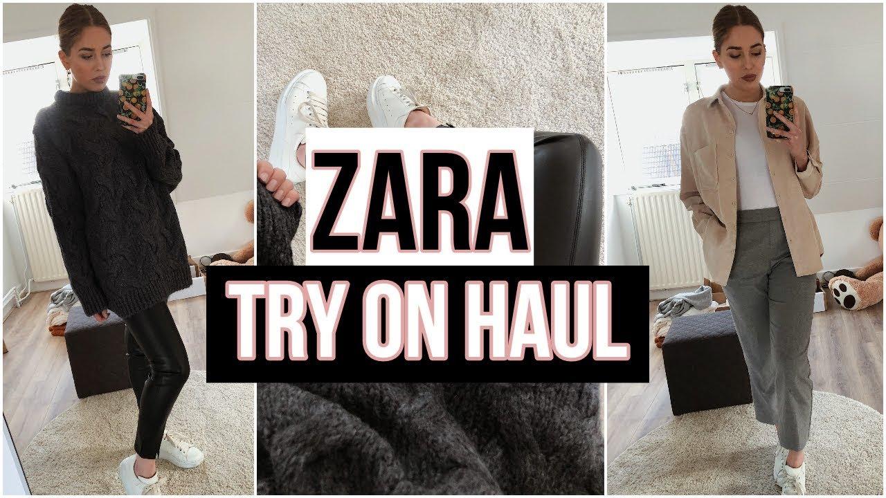 56da3d46 ZARA HAUL AND TRY ON   Winter 2018
