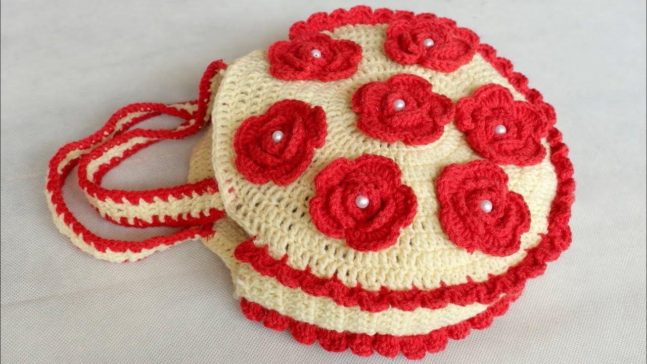 Wow Woolen Handbag Making At Home Handmade Purse Making With Woolen Crochet Handbag Purse