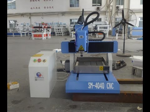 SM-4040 mini cnc router with stainless steel water tank for engraving aluminum and cylinder wood