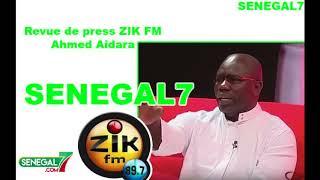 Revue de presse Zik fm avec Ahmed Aidara du 11 mars 2019
