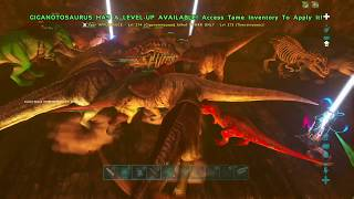 BIGGEST MEAT RUN EVER ON ARK, FACTION Hit HAYABUSA Duping Station 757