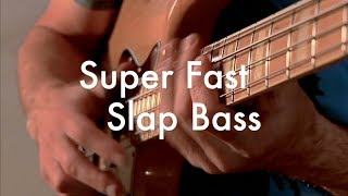 Super fast slap bass exercise - Bass tutorial - triplets