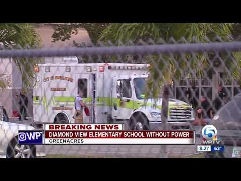 Diamond View Elementary School in Greenacres without power