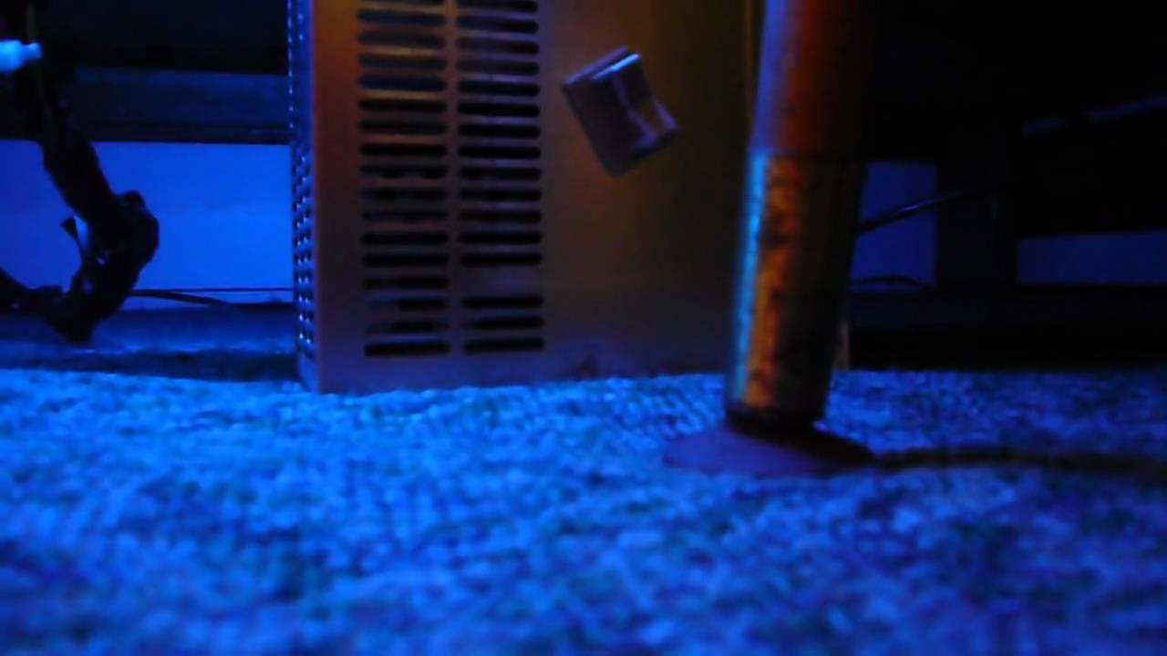 Blue NEON light under bed! - YouTube