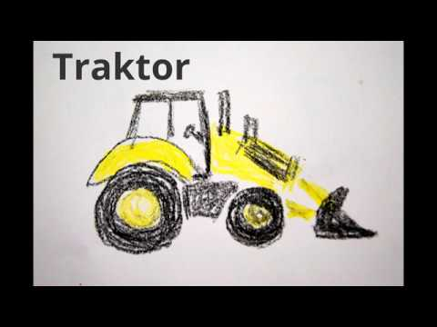 Traktor Malen Fur Kinder How To Draw A Tractor Risovat