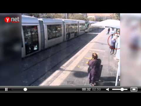 Two Palestinian school girls stabbing attack, Jerusalem rail station, Israel [November 22 2015]