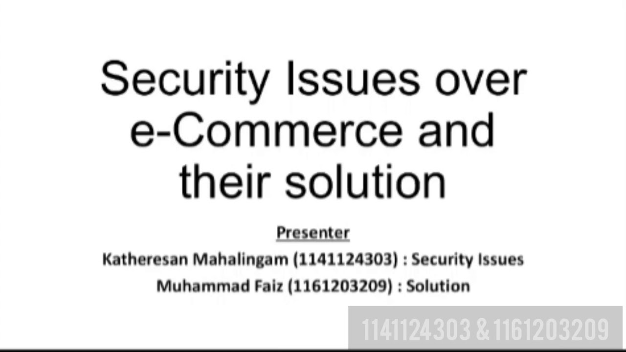 Security Issues Over E Commerce And Their Solutions Youtube