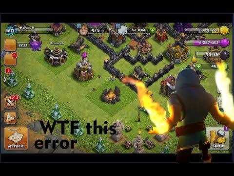 coc error missing troops:- WTF