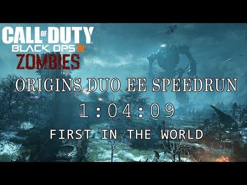 """ORIGINS FASTEST DUO EE SPEEDRUN """"1:04:09"""" // #1 IN THE WORLD (Black Ops III Zombies)"""