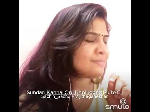 Sachu and Vijitha - Sundari kannal oru unplugged flute cover