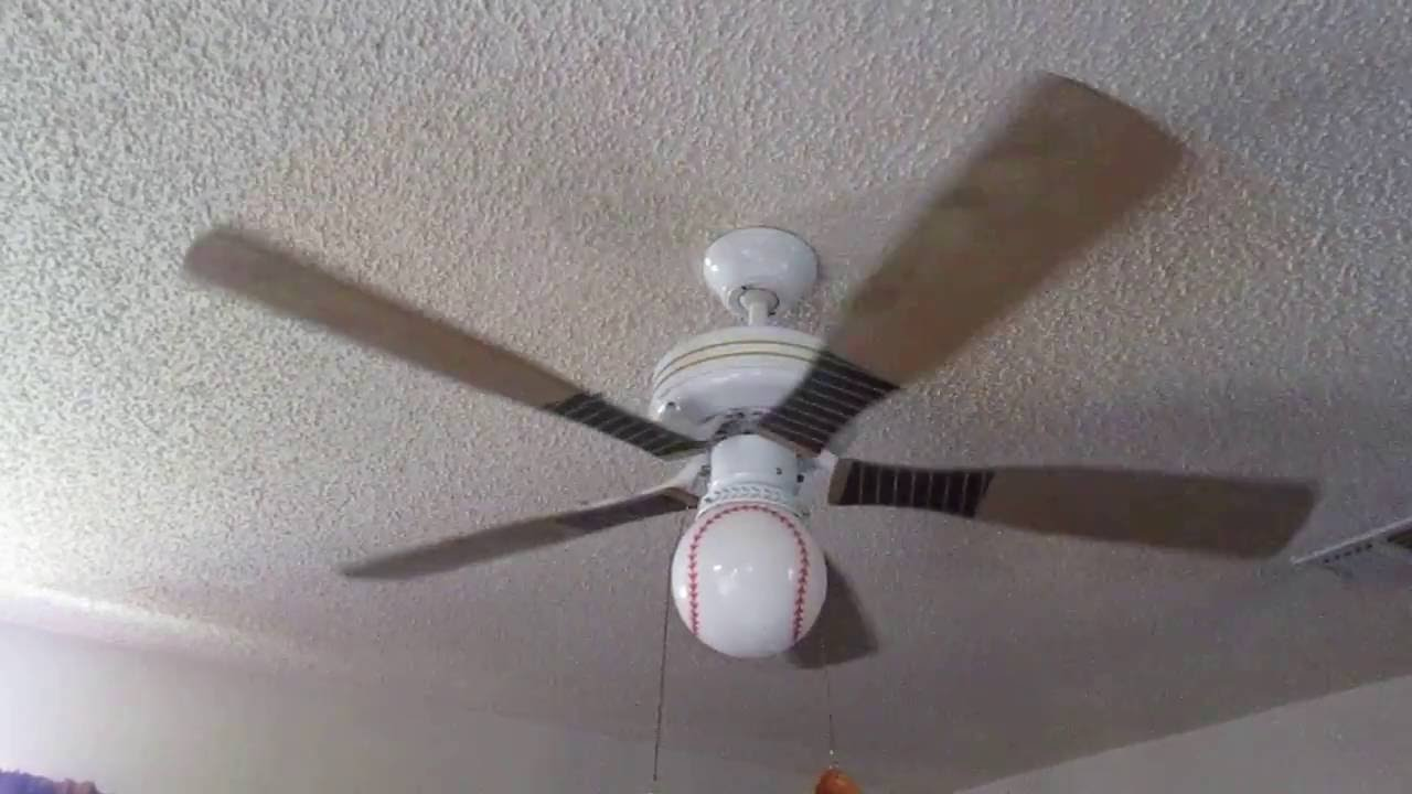 Baseball Bat Ceiling Fan In The Family Room