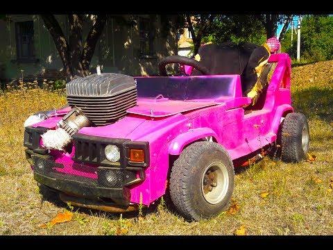 Построил MiNi Hummer в 17 лет / Barbie Car