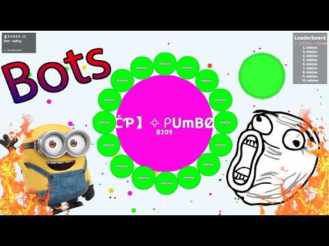 How To Get Bots In Agar.io // Private Server // Bots GamePlay