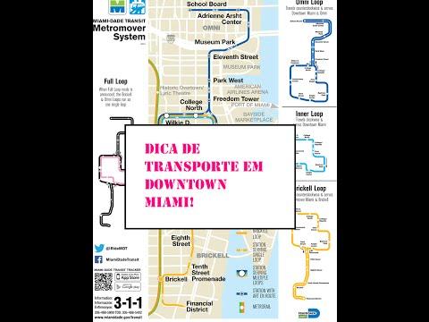 Dica de Transporte em Downtown Miami - Metromover
