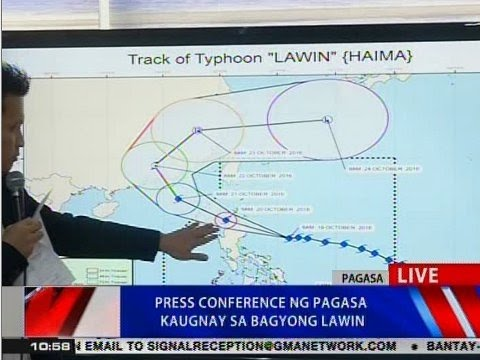 NTVL: PAGASA 11 a.m. press briefing on Typhoon Lawin