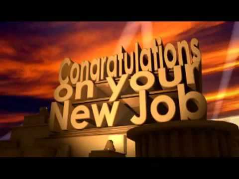 Congratulations on your new job youtube congratulations on your new job thecheapjerseys Image collections