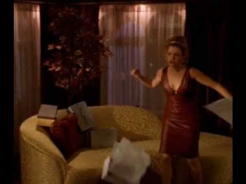buffy slayer-glory in slip leather dress