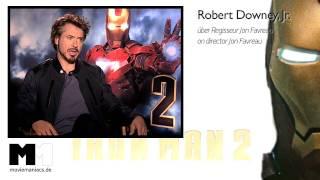 Iron Man 2 | Robert Downey Jr. Interview - Jon Favreau (2010)