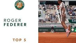 Roger Federer top 5 ! | Roland Garros 2019