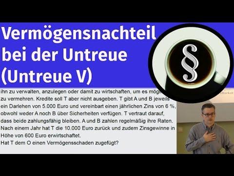 Vermögensnachteil Bei Der Untreue (Untreue V)