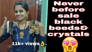 Black beeds//never before sale//crystalsbeeds//cost of the sale//lover of the day😍