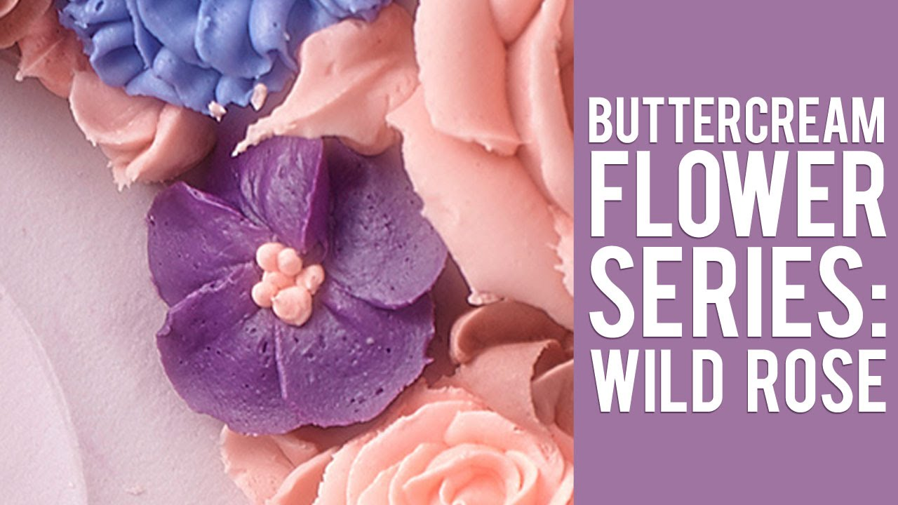 How to make a buttercream wild rose youtube izmirmasajfo
