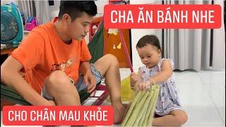 Con gái rượu Khương Dừa chăm sóc cha kiểu này thì chân sẽ mau khỏe đi miền Trung thôi!!!