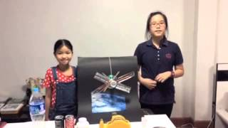 science project artificial satellite model (dust satellite)