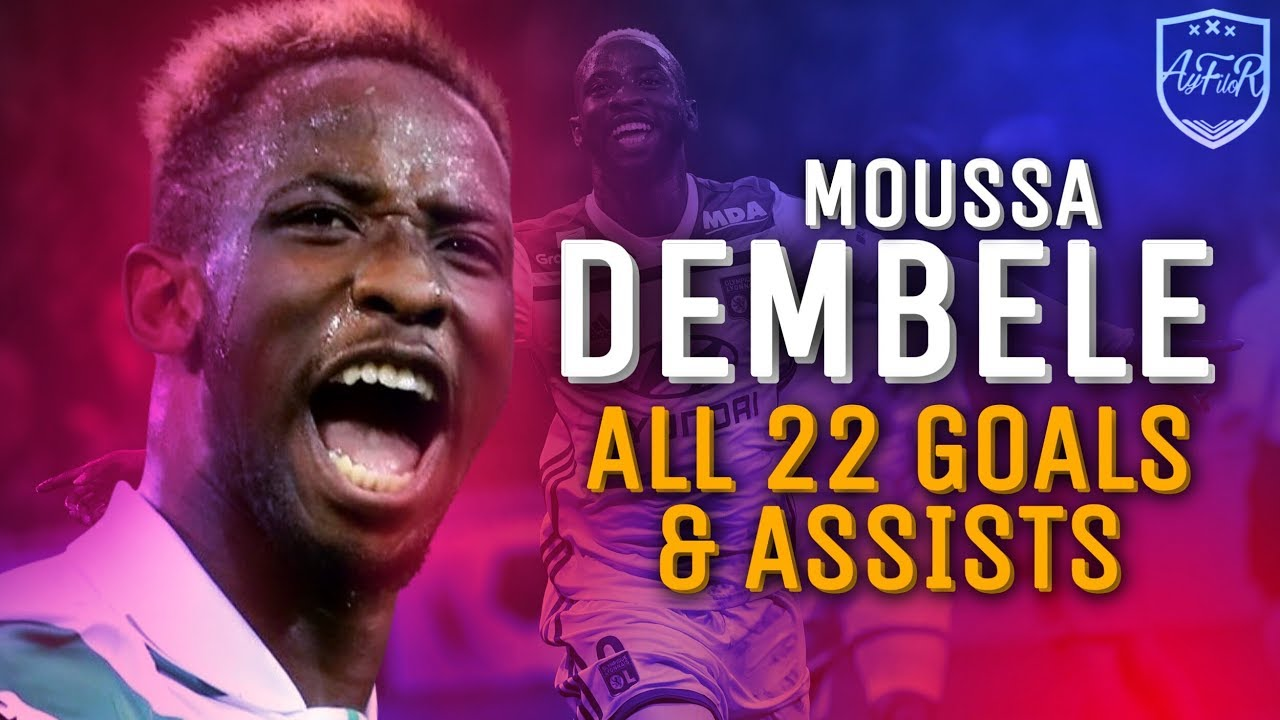 Moussa Dembele • All 22 Goals & Assists for Lyon 2018/19 so far (HD) • 2019
