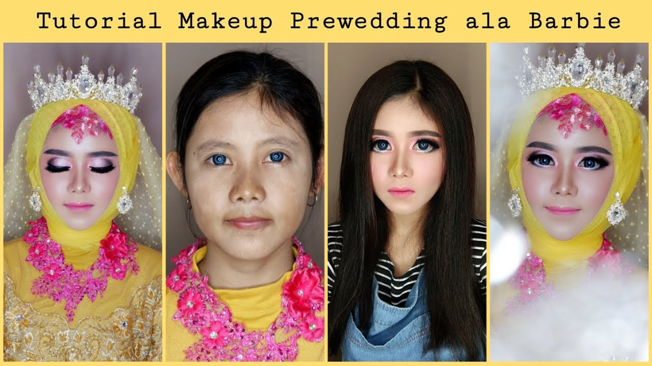 Tutorial Makeup Prewedding Ala Barbie Rindy Nella Krisna Youtube
